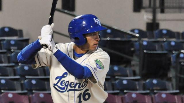 Italy's Marten Gasparini playing in the MiLB for the Lexington Legends