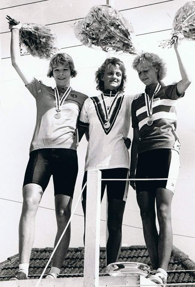 Van Verseveld Far Left Silver Medalist at the 1988 UCI Road World Championship
