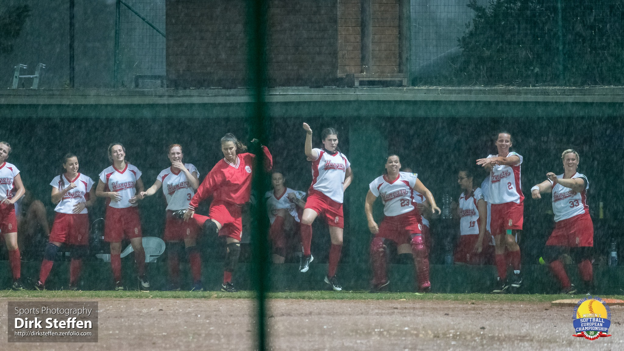 Hungary dances to stay warm during summer shower... or was it the dancing that brought the rain?