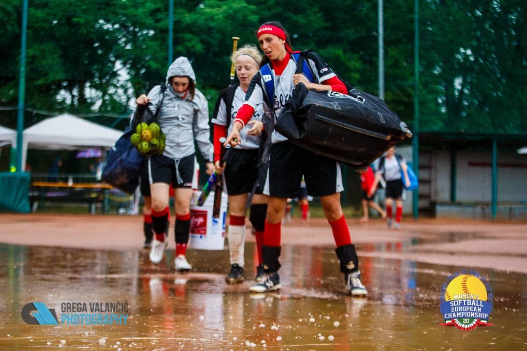 Slovakia wades through another rain delay.