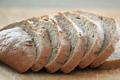 Sliced fresh brown bread