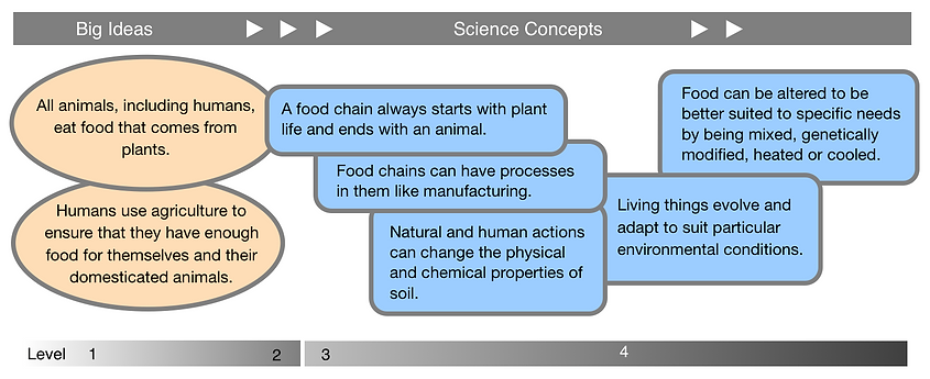 Food chains: Big Ideas and Science Concepts