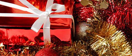 お祝いクリスマスのギフト
