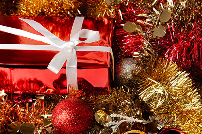 お祝いのクリスマスギフト