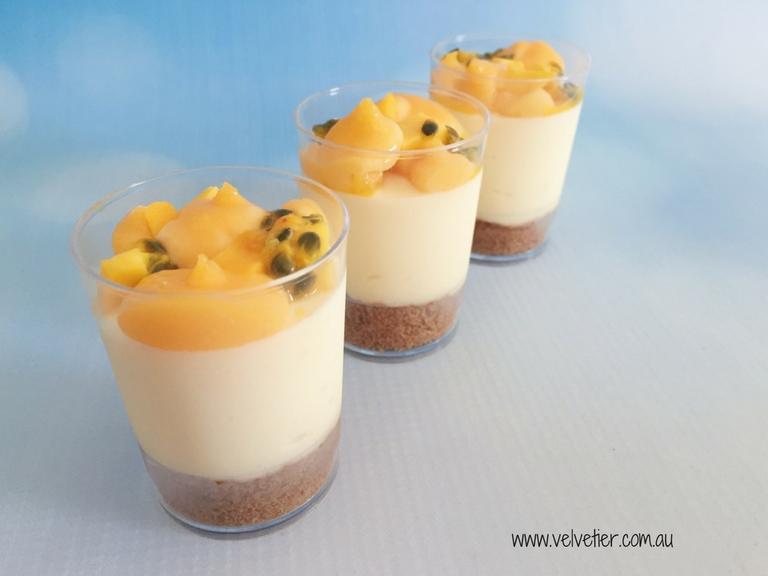Tropical cheesecake by Velvetier Brisbane Desserts