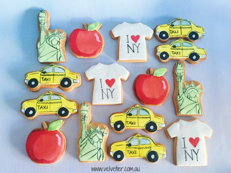 New York Themed Cookies By Velvetier Brisbane Biscuit Cookie