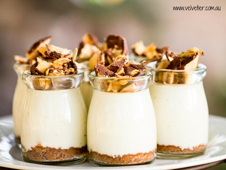 honeycomb cheesecake dessert pot Velvetier Brisbane verrine
