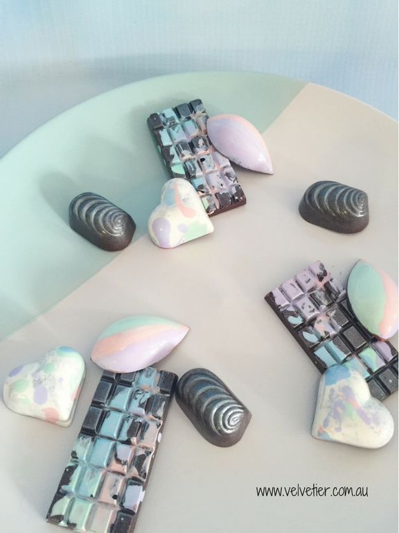 Shades Of Pastel Chocolate Collection By Velvetier Brisbane Custom Chocolates