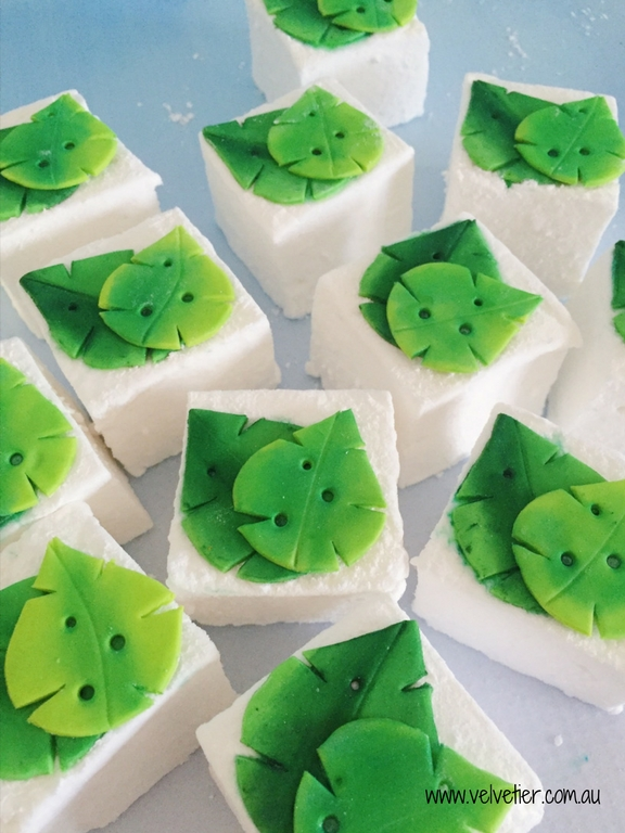 Tropical leaf marshmallow by Velvetier Brisbane sweets and confections
