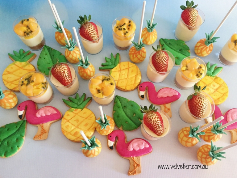 Tropical desserts by Velvetier Brisbane sweets