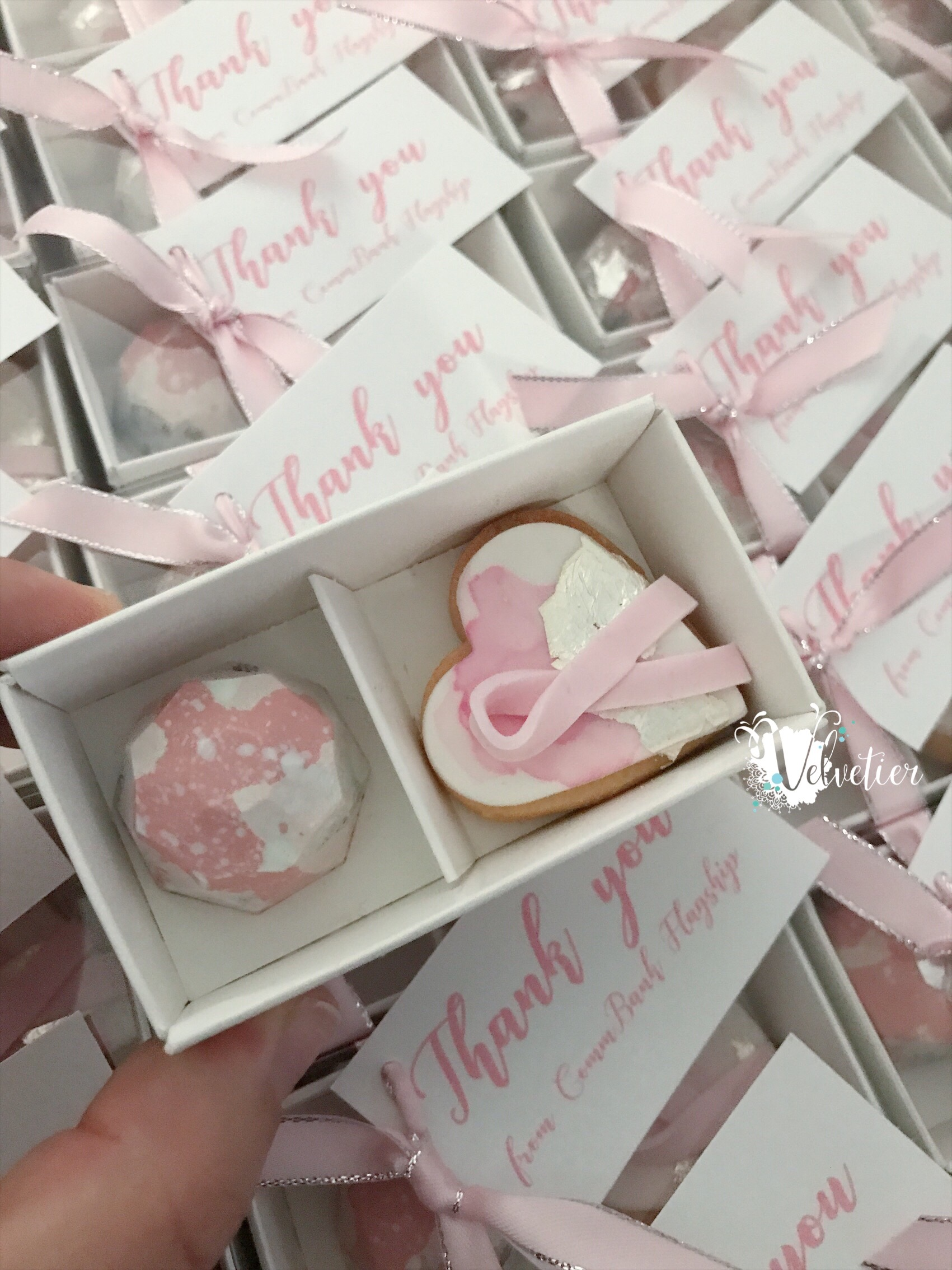 Non logo branded corporate gifts for community event by velvetier brisbane chocolatier cookies
