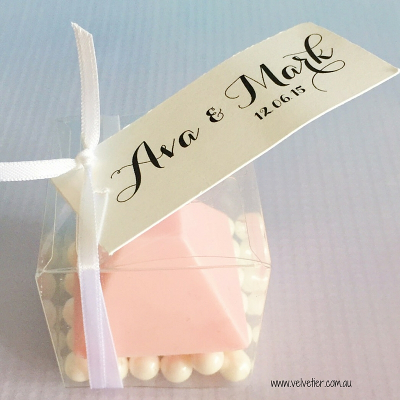 Single chocolate Velvetier Brisbane Bomboniere wedding favour party favour