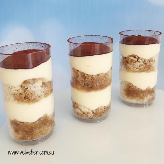 Tiramisu verrine by Velvetier Brisbane dessert
