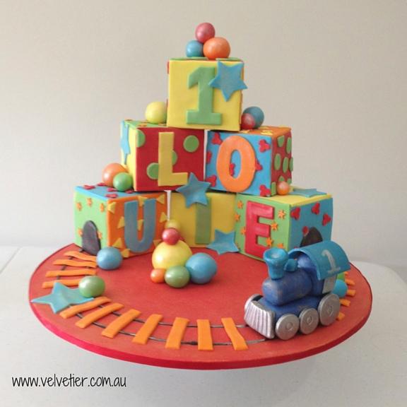 Building block cake Velvetier Brisbane