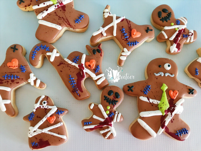 Bandaged halloween family cookies by velvetier brisbane