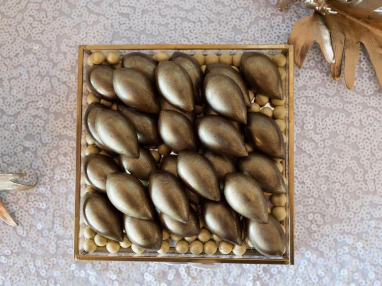gold bonbons by velvetier brisbane chocolatier