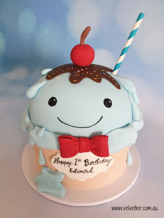 Ice cream sundae cake by Velvetier Brisbane Cake