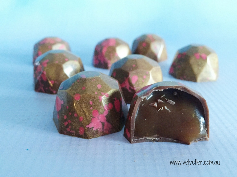 Salted Caramel Gems By Velvetier Brisbane Chocolate