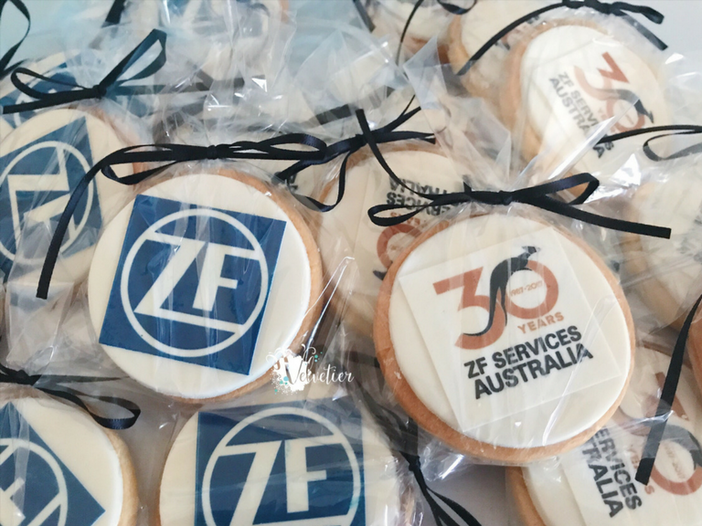 ZF services 30th birthday corproate cookies by velvetier brisbane
