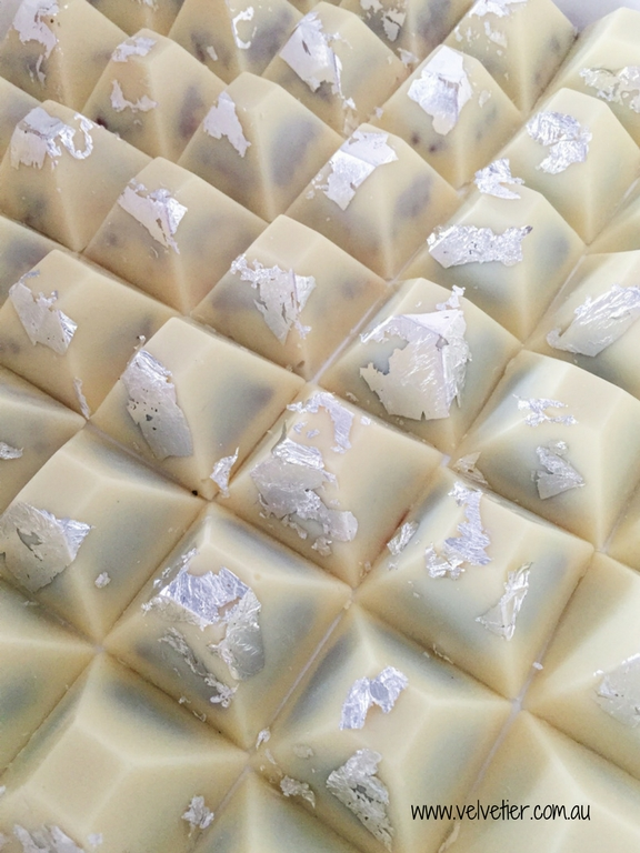 White Chocolate Oreo Pyramids With Silver Leaf By Velvetier Brisbane Chocolatier