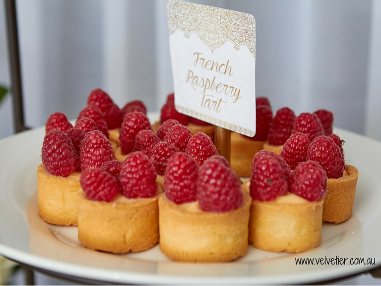 French Raspberry Tarts By Velvetier Brisbane Sweets