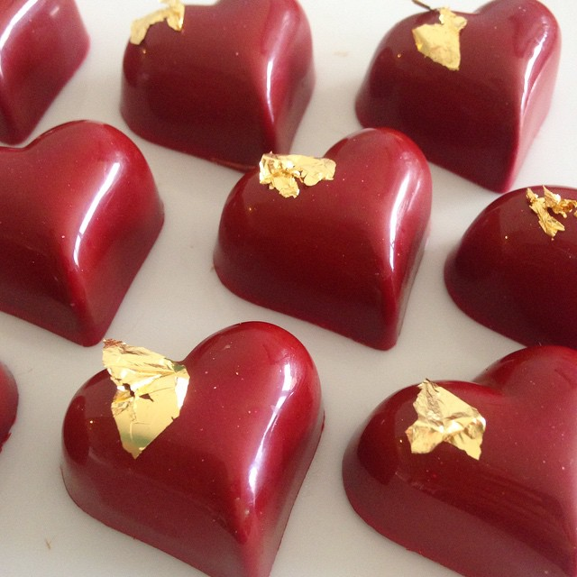 Solid colour with some gold bling for chocolate #3. This little beauty is raspberry