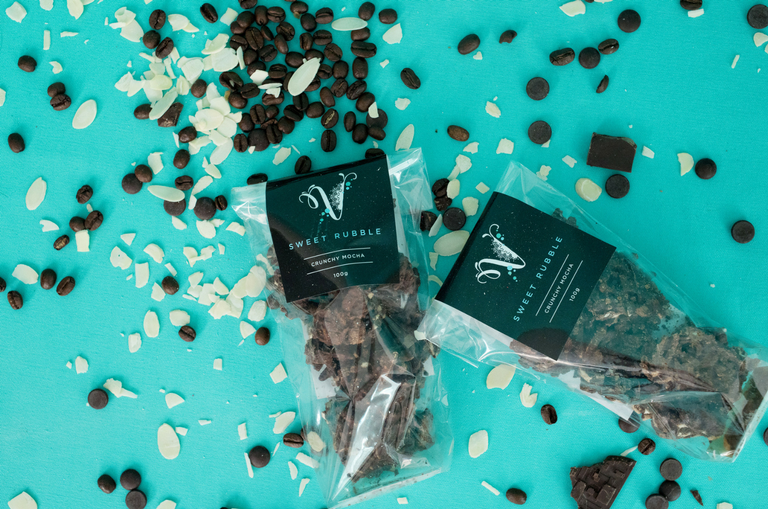 Mocha Crunch Sweet rubble by Velvetier Brisbane Chocolatier