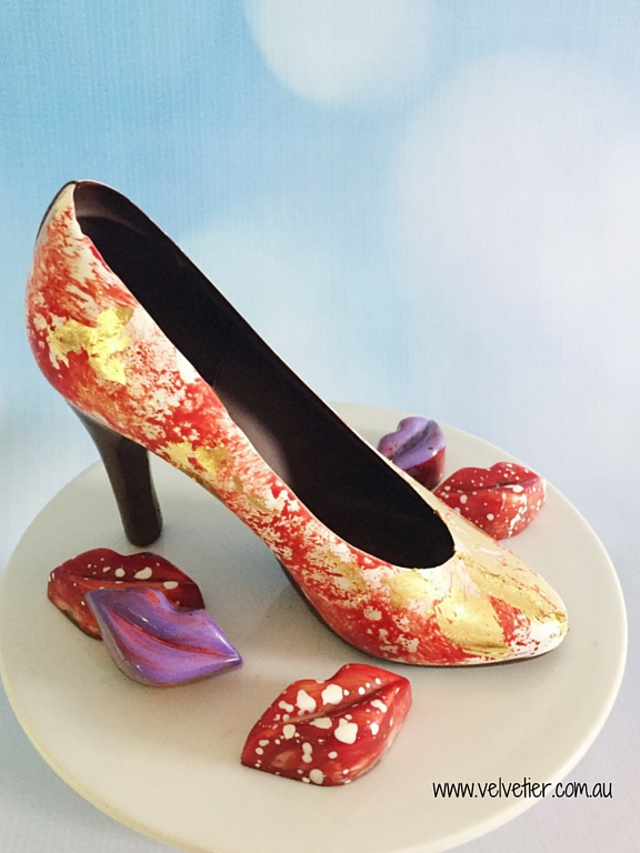 Chocolate shoe by Velvetier Brisbane Chocolate