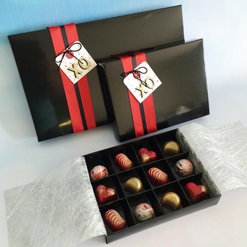 Valentines custom chocolates Velvetier Brisbane