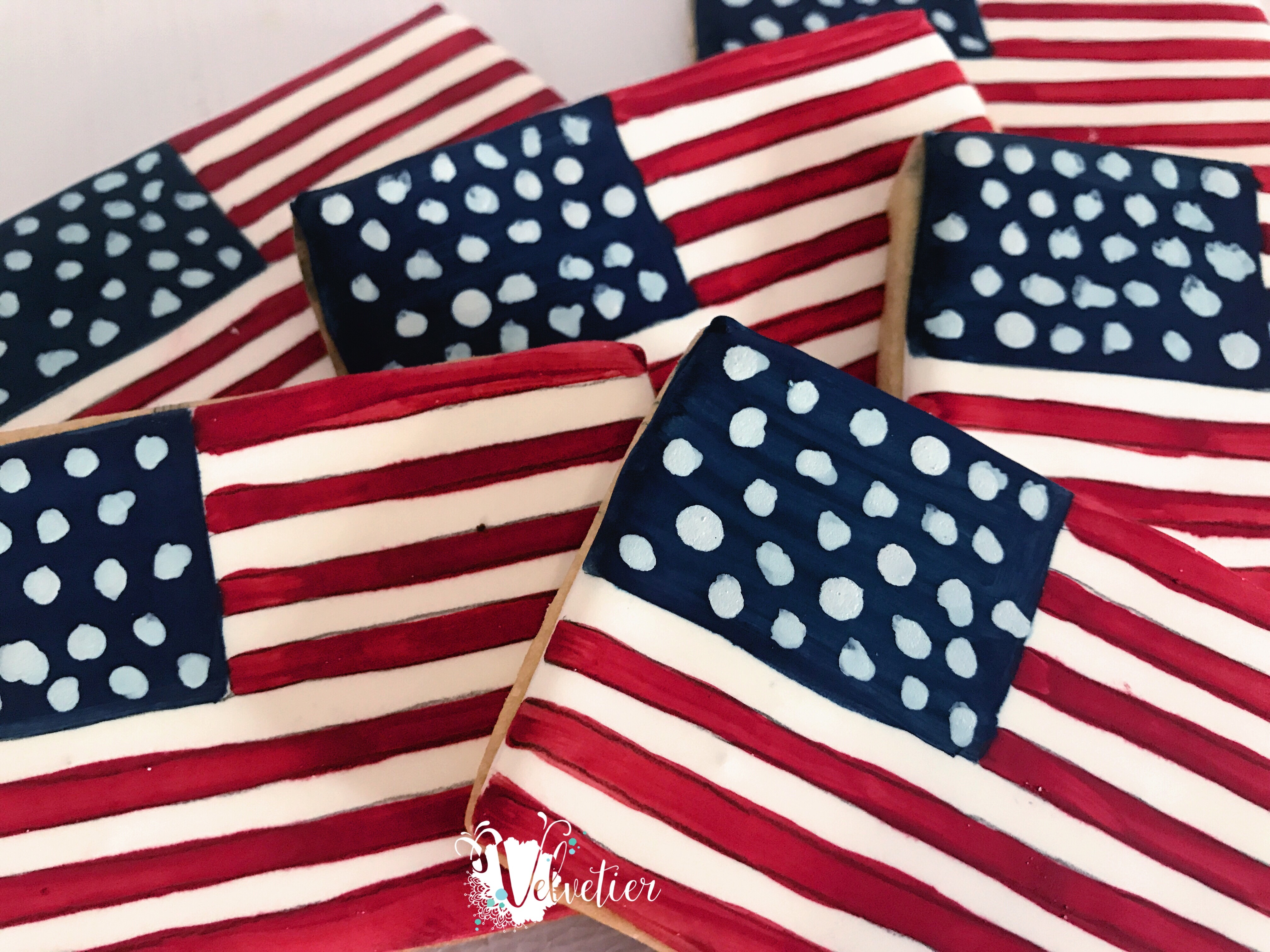 American flag cookies by velvetier brisbane usa flag