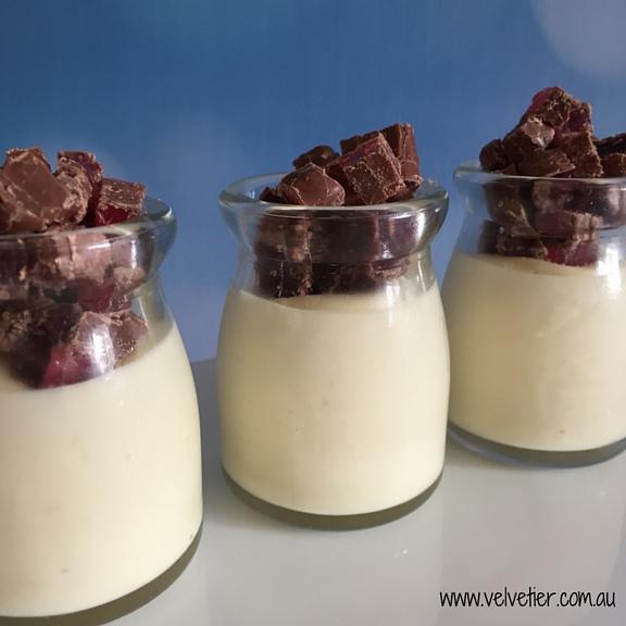 Turkish delight panna cotta gluten free by Velvetier Brisbane
