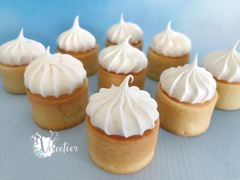 Petite lemon meringue tart by Velvetier Brisbane