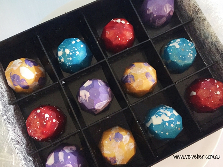Bright Multicoloured Splash Gems By Velvetier Brisbane Chocolatier