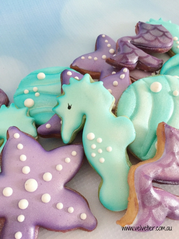 Under the sea cookies by Velvetier Brisbane cookie