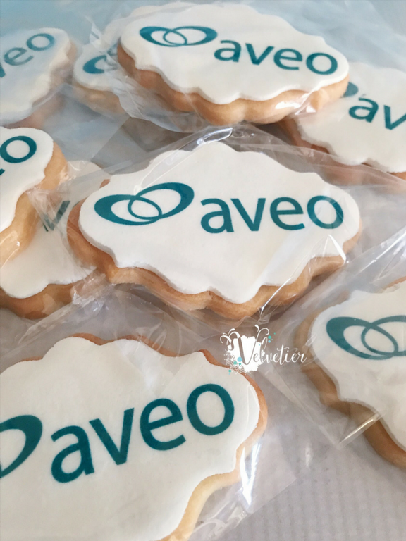 Aveo Corporate branded cookies by Velvetier Brisbane copy