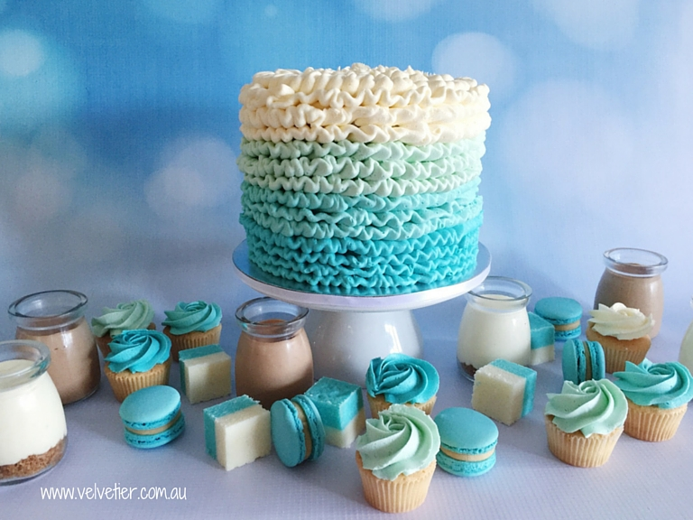 Ombre Blue Dessert Table Sweets By Velvetier Brisbane Desserts