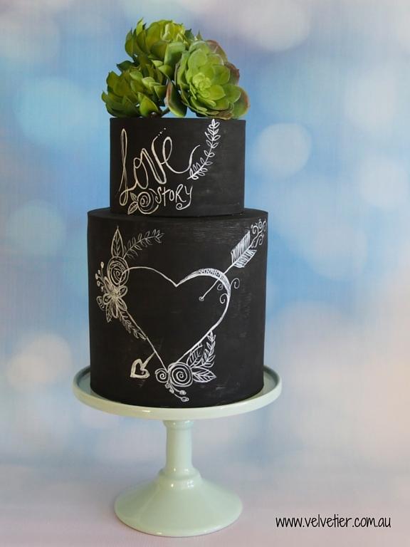Blackboard cake Velvetier Brisbane