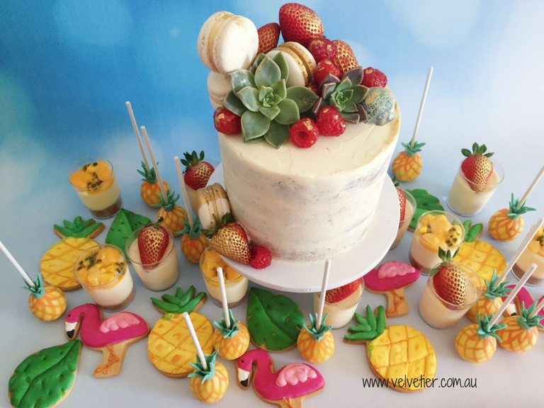 Tropcial cake and mixed desserts by Velvetier Brisbane cake sweets and desserts 2