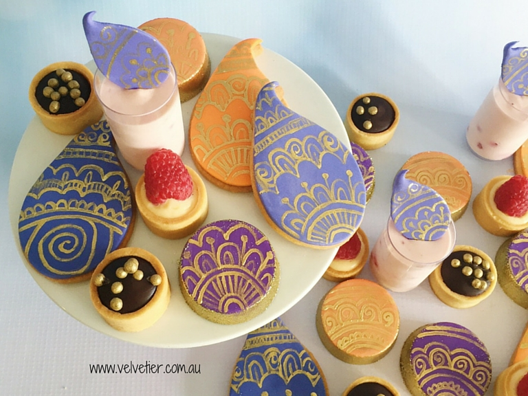Bollywood Inspired Mandala Desserts By Vevletier Brisbane Desserts