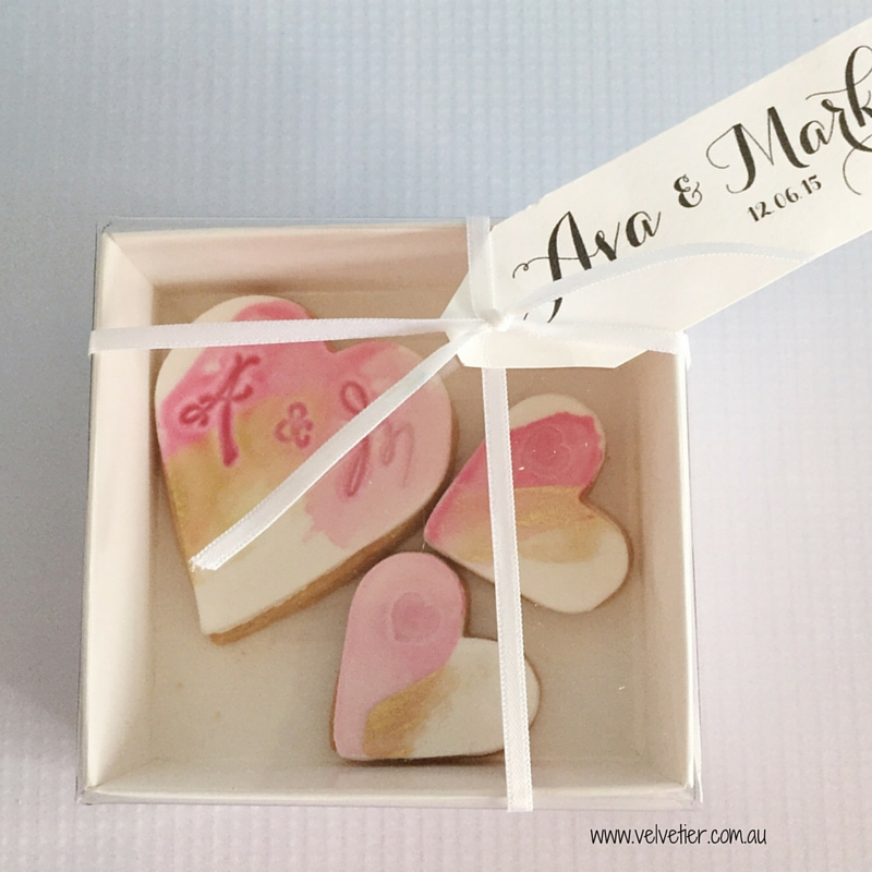 Cookie box Velvetier Brisbane Bomboniere wedding favour party favour