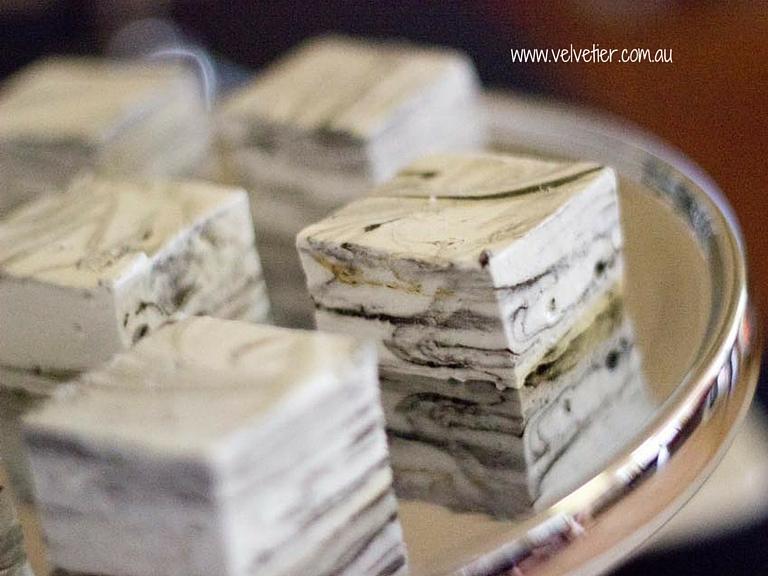 Black And White Marble Marshmallow By Velvetier Brisbane Marshmallow