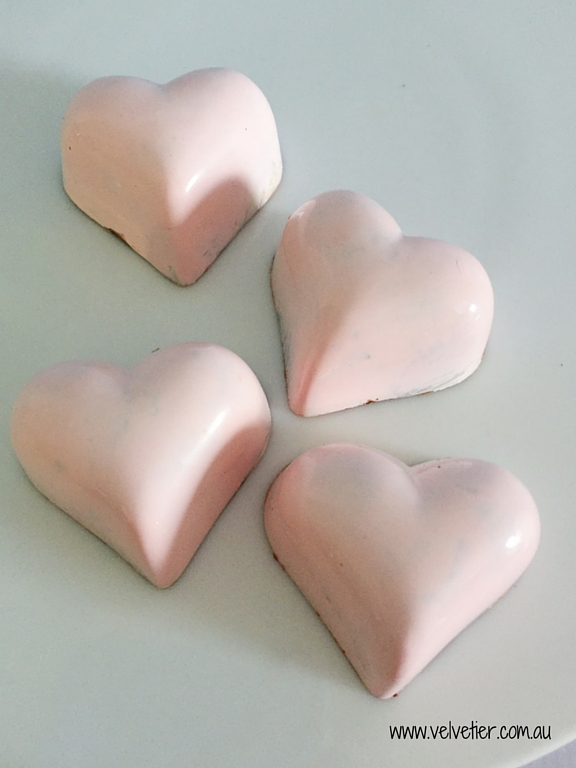 Pale Pink Chocolates By Velvetier Brisbane Chocolatier
