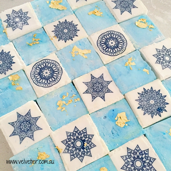 Blue And Gold Mandala Marshmallow By Velvetier brisbane Marshamallow