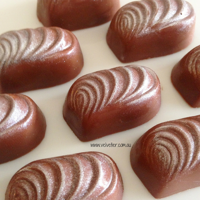 Silver swirl custom chocolate Brisbane Velvetier