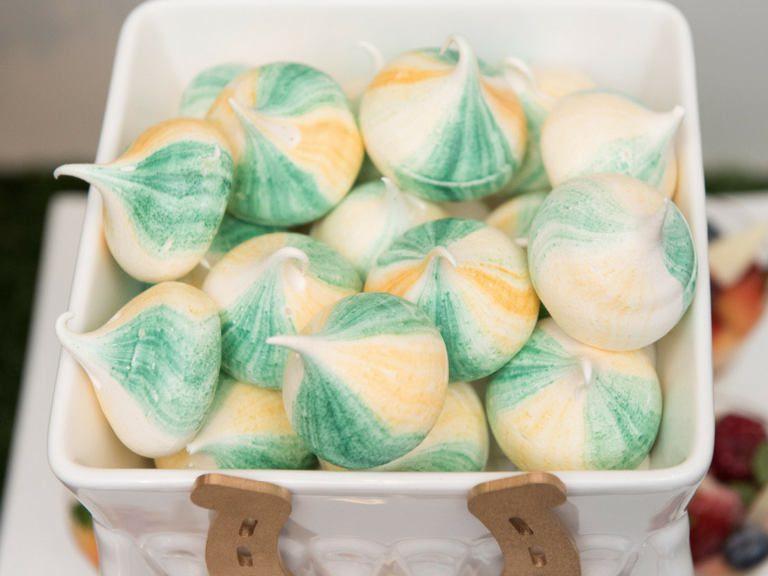 Green and yellow meringues by Velvetier Brisbane