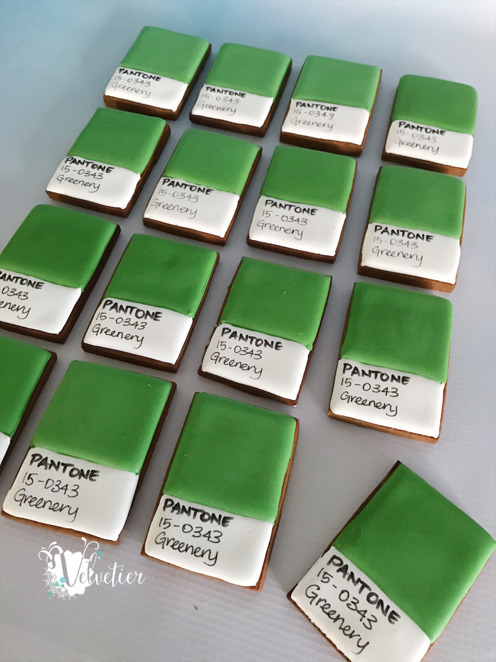 Pantone colour of the year Greenery Cookies by Velvetier Brisbane 2 copy