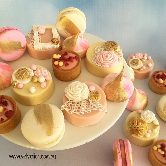 Pink White And Gold Dessert Table Buffet Sweets By Velvetier Brisbane
