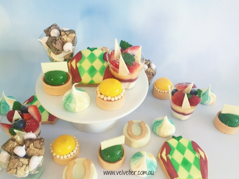 Green And Gold Horse Theme Dessrts By Velvetier Brisbane Sweets