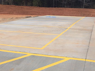 Newly striped parking spaces in Clover, SC
