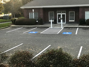 Hanicap parking at SBC, Great Falls, SC